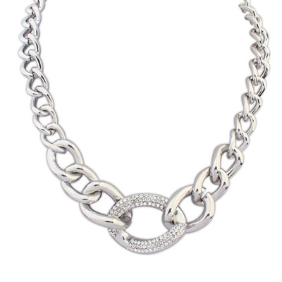 Volcom antiquesilver diamonddecoratedchaindesign