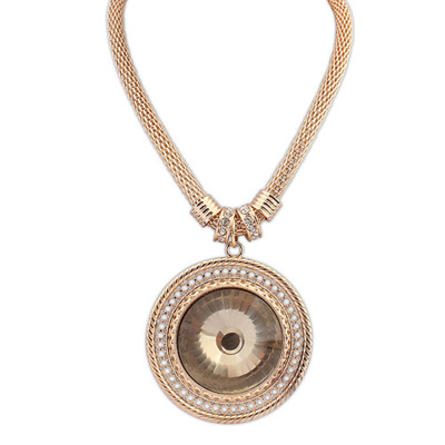 Madewell goldcolor diamonddecoratedroundpendantdesign alloy Pendants