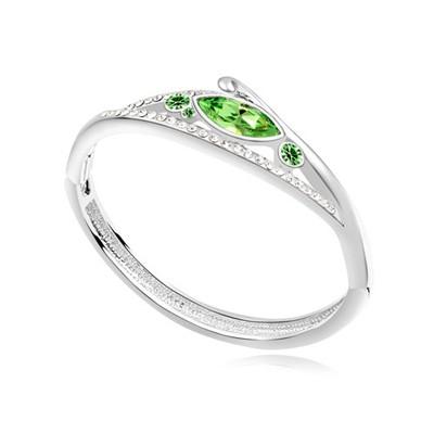 Invicta olive color CZ diamond decorated triangle shape design alloy Crystal Bracelets