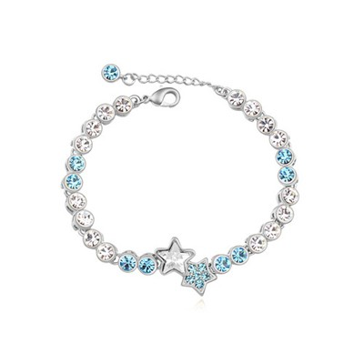 Dash navy blue star decorated simple design alloy Crystal Bracelets