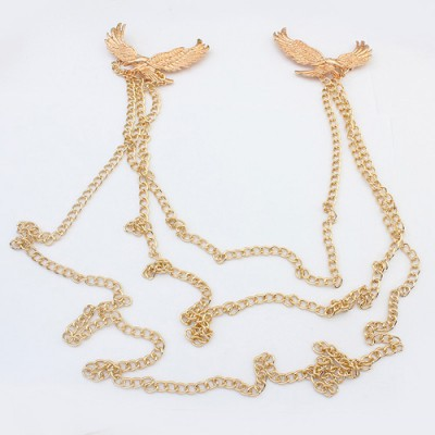 Bespoke gold color eagle shape decorated chain design