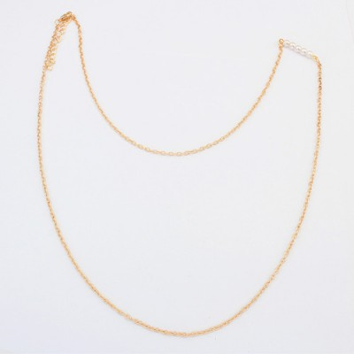 Friendship gold color pearl decorated simple design alloy Chains