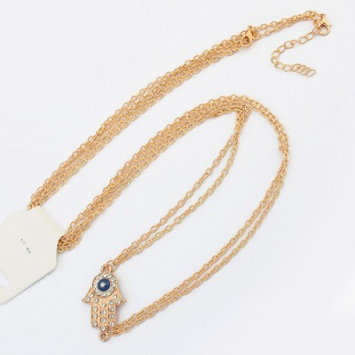 Bodybuildi gold color hand pendant simple chain design alloy Body Chains