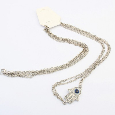 Pendant silver color hand pendant simple chain design alloy Body Chains