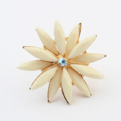 Funny beige flower shape simple design alloy Korean Rings