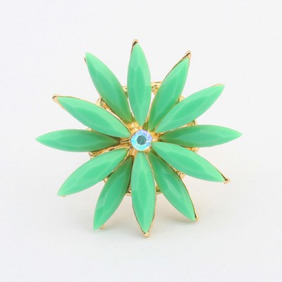 Deathly green flower shape simple design alloy Korean Rings