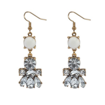 Splendid White Diamond Decorated Bee Shape Design Alloy Korean Earrings