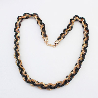 Automatic Black hollow out weave simple design Alloy Chains