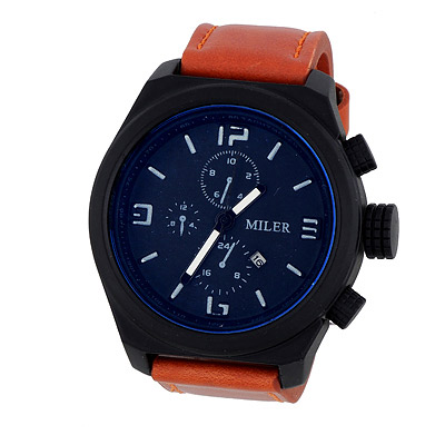 Fashion Brown Four Dial Decorated Sport Design