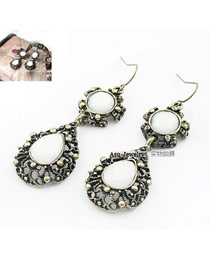 Affinity Silver Color Angel Tears Pierced Alloy Korean Earrings