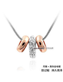 Electric Silver Color Strung Little Happiness Alloy Chains