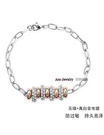 Peterbilt Silver Color Multi Ring Pendant Alloy Fashion Bracelets