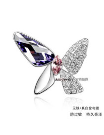 Profession Light Rose Red Brooch Alloy Crystal Brooches