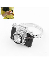 Tummy Black Camera Alloy Korean Rings
