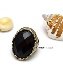 Cardboard Black Black Stones Alloy Korean Rings