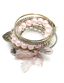 Shining Pink Flower Alloy