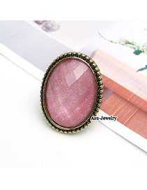 Promo Plum Red Simple Ring Alloy Korean Rings