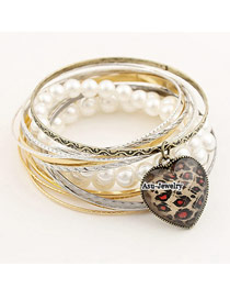 Awesome Color will be random Peach Heart Alloy Fashion Bangles