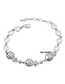 University Multicolour Bracelet Alloy Crystal Bracelets
