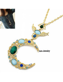 Apparel Gold Color Gold Moon Alloy Chains