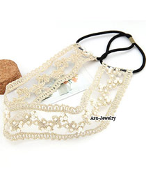 Korean lovely vogue pearl ribbons hair band hair accessories