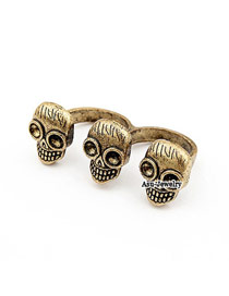 Designs Gold Color Skeleton Alloy Korean Rings