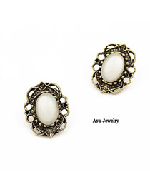 Boutique Bronze Hollow Out Alloy Stud Earrings