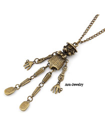 Foldable Bronze Scarecrow Design Alloy Chains