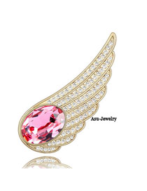 Childrens rose red Red Brooch Alloy Crystal Brooches