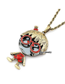 Fitness Bronze Ugly Betty Mighty Charm Design Pendant Alloy Chains
