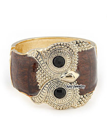 High Brown Owl Alloy Fashion Bangles