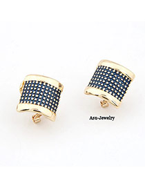 Customized Purple Simple Design Alloy Stud Earrings