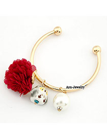 Elephant Red Flower Owl Pendant Cuprum Fashion Bangles