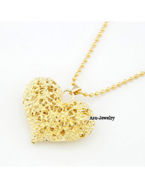 Nameplate Gold Color Hollow Out Heart Alloy Chains