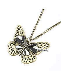 Collapsibl Bronze Butterfly Pendant