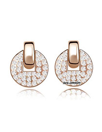 Airmail White Earrings Alloy Crystal Earrings