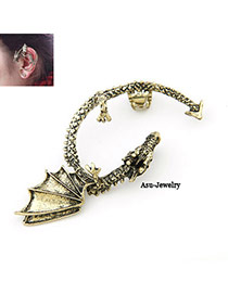 Homecoming Bronze Luckly Dargon Charm Design Alloy Stud Earrings