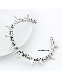 Religious Silver Color Rivet Alloy Fashion Bangles