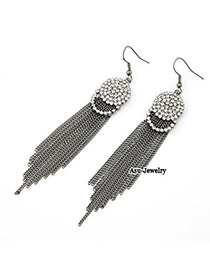High Waist Antique Silver Long Length Tassels Charm Design