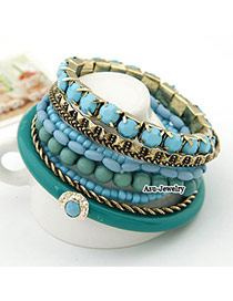 Bespoke Blue Bead Multilayer