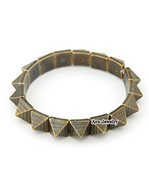 Automatic Bronze Rivet Alloy Fashion Bangles