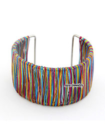 Dancing Multicolour Twine Alloy Fashion Bangles
