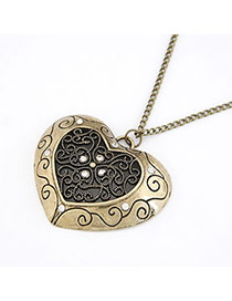 Direct Bronze Hollow Out Heart Alloy Chains