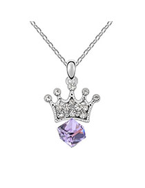 Genuine Violet Purple Princess Lover Crystal Crystal Necklaces
