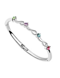 Musical Multicolour Bangle Alloy Crystal Bracelets