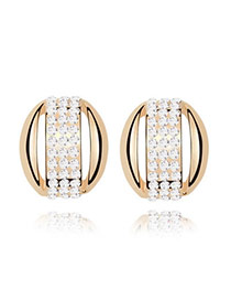 Extreme White Earrings Alloy Crystal Earrings