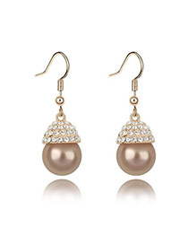 Chiropract Bronze Earrings Alloy Crystal Earrings