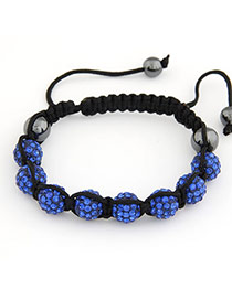 Monarch Sapphire Blue Handmade Weave Braided Rope Fashion Bracelets