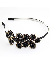 Korean exquisite sweet fashion handmade flower bead charm hair band hair accessories