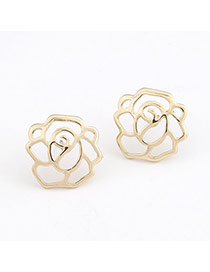 Memorial Gold Color Hollow Out Rose Charm Design